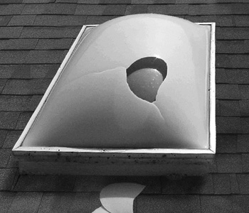 Broken Acrylic Plastic Dome Skylight Replacement