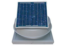 24 Watt Curb Mount Solar Attic Fan by Natural Light