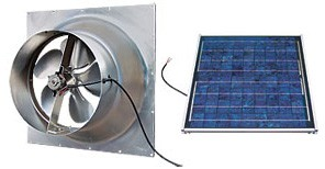 24 Watt Gable Solar Attic Fan by Natural Light