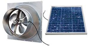 36 Watt Gable Solar Attic Fan by Natural Light