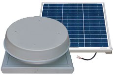 50 Watt Curb Mount Solar Attic Fan by Natural Light