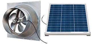 50 Watt Gable Solar Attic Fan by Natural Light