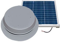 60 Watt Solar Attic Fan by Natural Light