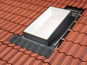ECW 3434- Tile Roof Flashing Kit for Curb Mount Skylights size 3434