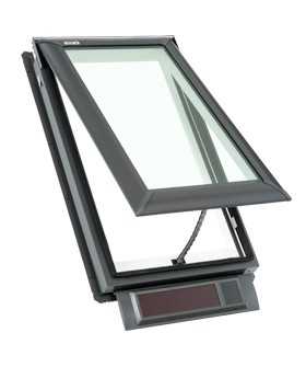 Vss c04 velux fresh air solar powered skylight for Velux solar powered blinds
