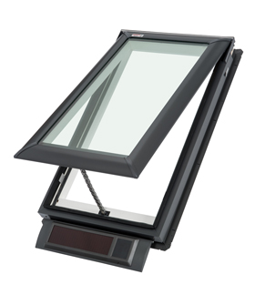 Velux solar powered fresh air skylights for Velux fresh air skylight