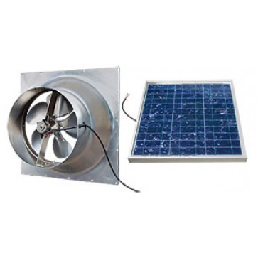 36 Watt Gable Solar Attic Fan by Natural Light