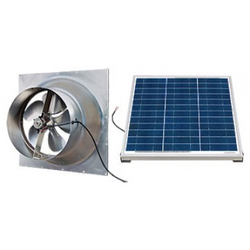 60 Watt Gable Solar Attic Fan by Natural Light