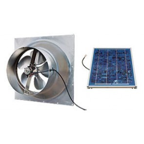 12 Watt Gable Solar Attic Fan by Natural Light