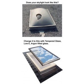 VCE 2222 - VELUX Electric Fresh Air Venting Curb Mount Skylight - 22 1/2