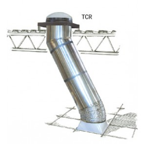TCR ZZZ 217 - Square Fresnel Diffuser Replacement For Velux Commercial Sun Tunnel Skylight
