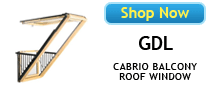 Velux GDL Cabrio Balcony Roof Windows Available at SkylightGuys.com