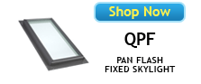Velux QPF Pan Self Flash Fixed Skylights Available at SkylightGuys.com