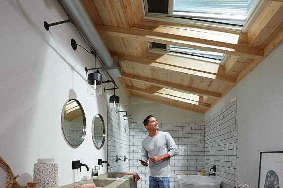 Velux Skylights in the Bathroom