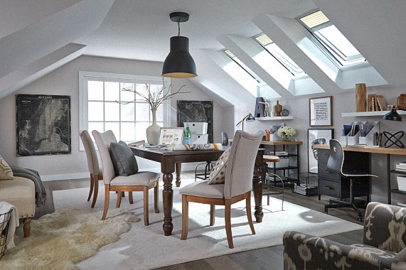 Velux Vented Skylights in home office