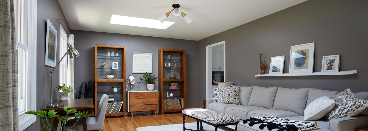 Velux Skylights in the Living Room